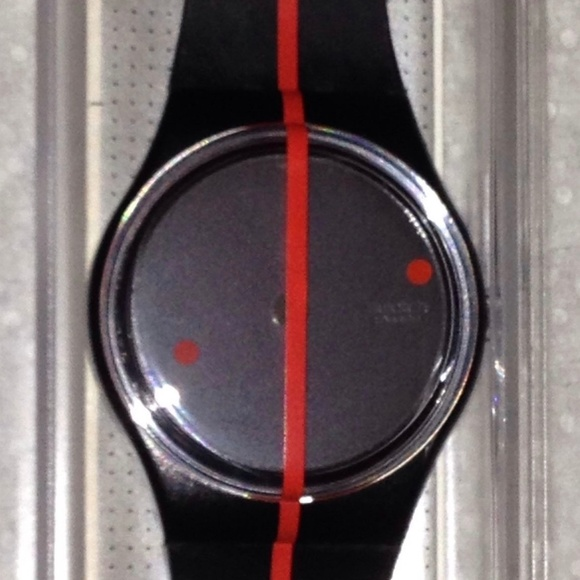 Swatch Other - 1991 SWATCH WATCH 360° Rosso Sur Blackout GZ119